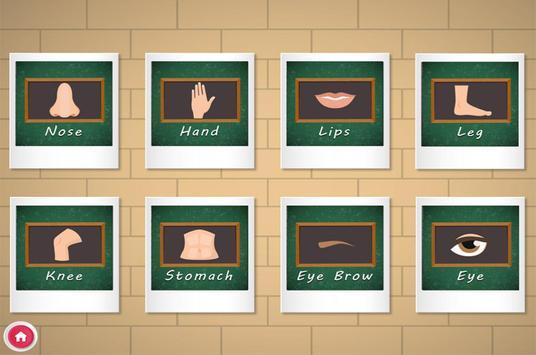 Human Body Parts Kids Learning screenshot 4