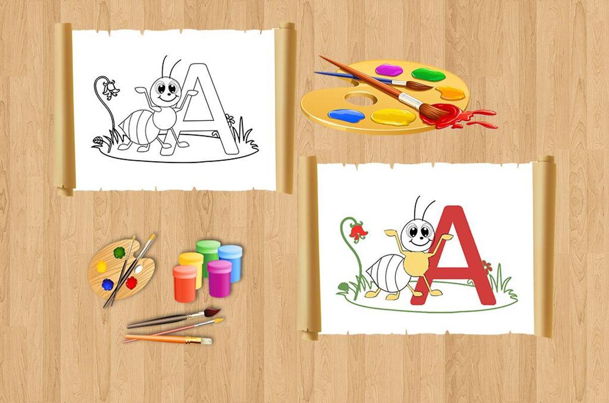 Kids Nursery ABCD Color Book Apk Screenshot