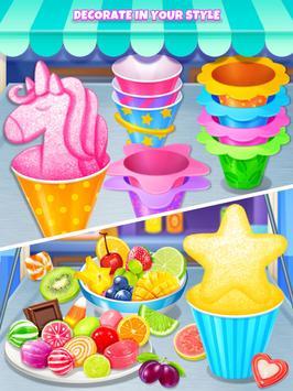 Summer Snow Cone - Icy Rainbow Food Maker screenshot 6