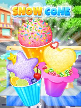 Summer Snow Cone - Icy Rainbow Food Maker screenshot 7