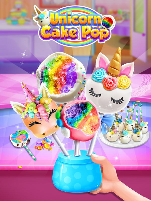 unicorn cake pop maker sweet fashion desserts for android apk download. Black Bedroom Furniture Sets. Home Design Ideas