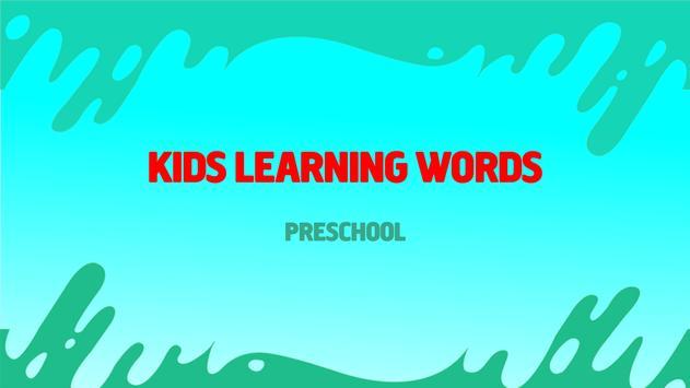 Kids Learning Words: Preschool poster