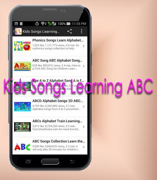 Kids Songs Learning ABC screenshot 2