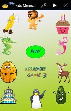 kids memory game 3 poster