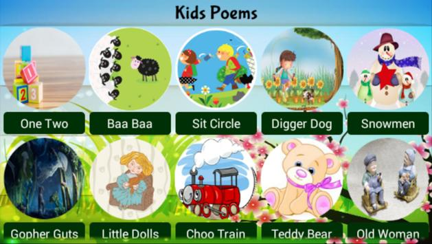 Poems and Rhymes for kids apk screenshot