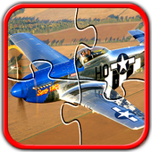Airplane Fighter Jigsaw Puzzles Brain Games Kids icon