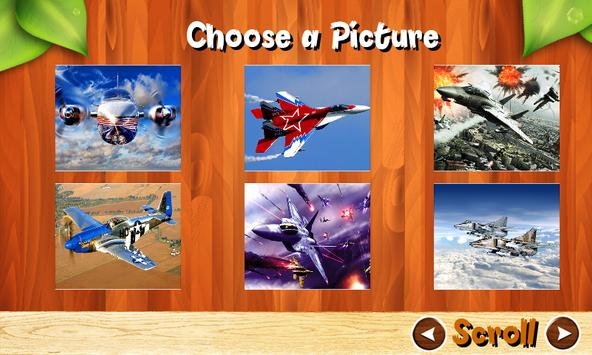Airplane Fighter Jigsaw Puzzles Brain Games Kids apk screenshot