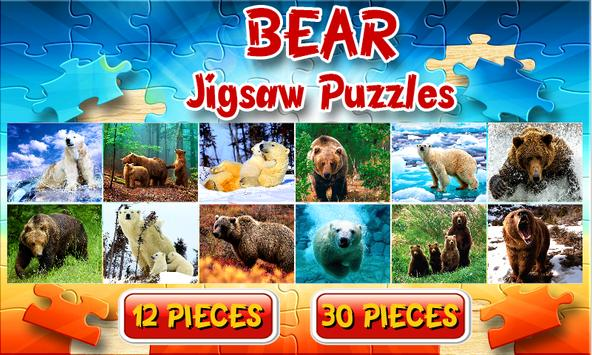 Bears Jigsaw Puzzles Brain Games for Kids FREE poster