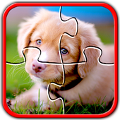 Dog Jigsaw Puzzles Brain Games for Kids Free icon