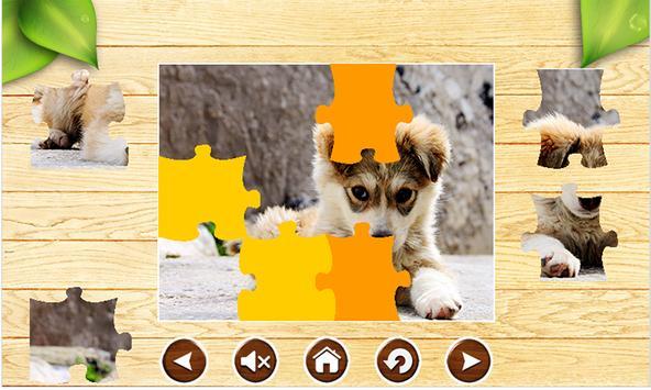 Dog Jigsaw Puzzles Brain Games for Kids Free apk screenshot