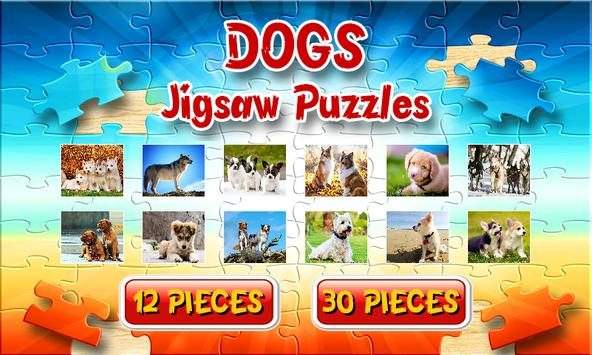 Dog Jigsaw Puzzles Brain Games for Kids Free poster