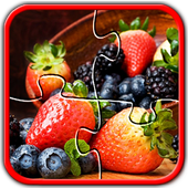 Fruit Jigsaw Puzzles Brain Games for Kids FREE icon
