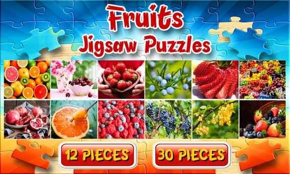 Fruit Jigsaw Puzzles Brain Games for Kids FREE poster