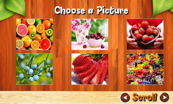 Fruit Jigsaw Puzzles Brain Games for Kids FREE screenshot 17