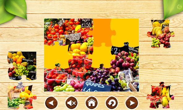 Fruit Jigsaw Puzzles Brain Games for Kids FREE screenshot 18