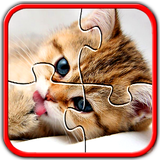 Kitten Cat Jigsaw Puzzles Brain Game for Kids Free