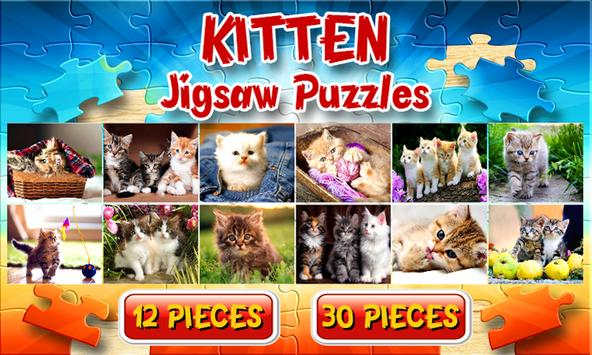 Kitten Cat Jigsaw Puzzles Game poster