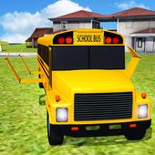 Flying School Bus simulator icon