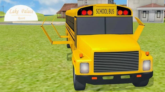 Flying School Bus simulator poster