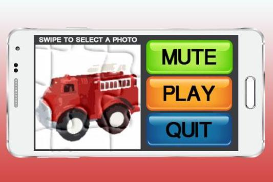 Fire Trucks Games Puzzle poster