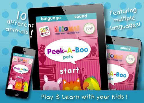 Peek-A-Boo Pets - KidzInMind poster