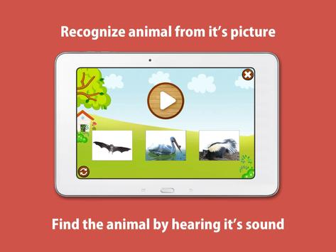 Kids Zoo, animal sounds & pictures, games for kids apk screenshot