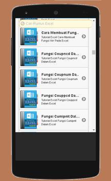 Rumus Excel Lengkap 2017 apk screenshot