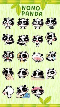 Kika Pro Nono Panda Sticker apk screenshot
