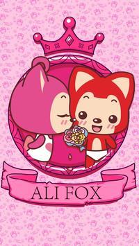Kika Keyboard Ali Fox Sticker poster