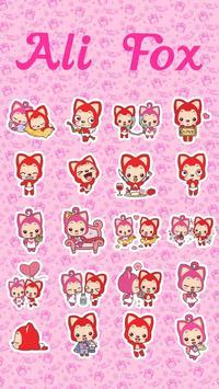 Kika Keyboard Ali Fox Sticker apk screenshot