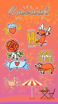 Kika Keyboard Casual Sticker poster