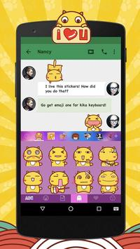 Kika Pro Hamicat Sticker Gif screenshot 2