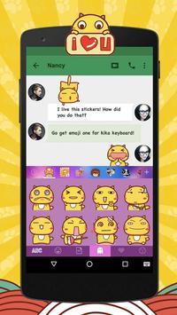 Kika Pro Hamicat Sticker Gif apk screenshot
