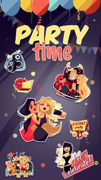 Kika Pro Party Time Sticker poster
