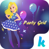Kika Pro Party Girl Sticker icon