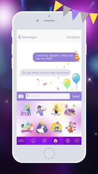 Kika Pro Party Girl Sticker apk screenshot