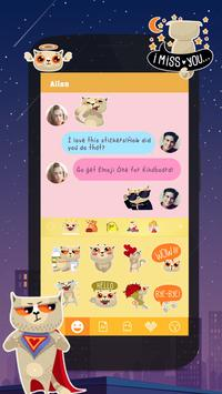 Kika Pro Stevie Cat Sticker apk screenshot