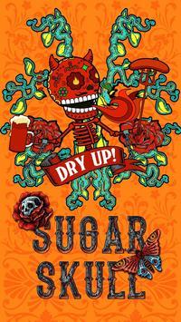 Kika Pro Sugar Skull Sticker poster