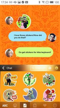 Kika Pro Sugar Skull Sticker apk screenshot