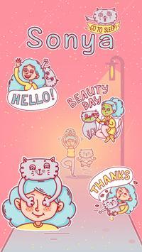 Kika Keyboard Sonya Sticker poster