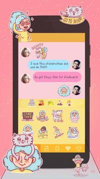 Kika Keyboard Sonya Sticker apk screenshot