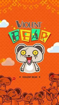 Kika Pro Violent Bear Sticker poster