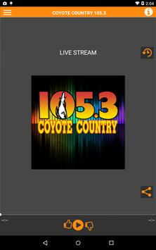 Coyote Country 105.3 poster
