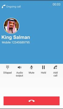 Fake Call From King Salman apk screenshot