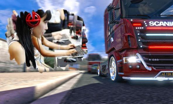 Frame Truck Euro Photo Editor poster