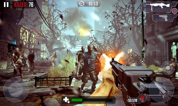 Zombie Hunter Shooting The Zombie Apocalypse 3D screenshot 1