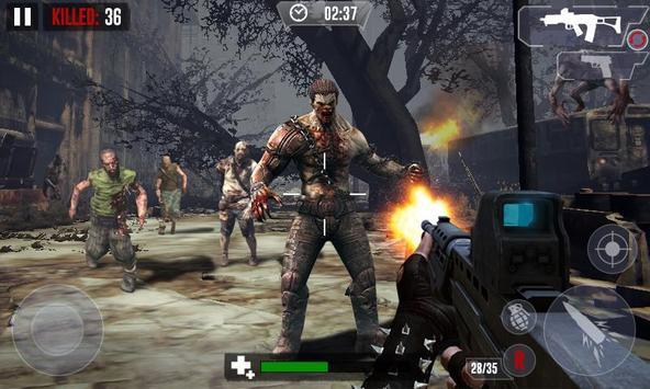 Zombie Hunter Shooting The Zombie Apocalypse 3D screenshot 2