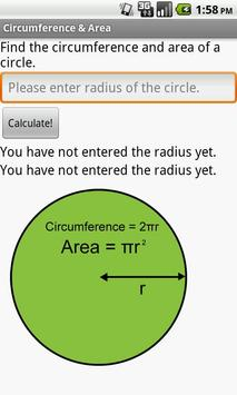 Circumference & Area of Circle poster