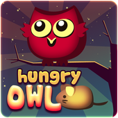 Killer hungry owl catch mouses icon