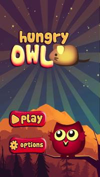 Killer hungry owl catch mouses poster